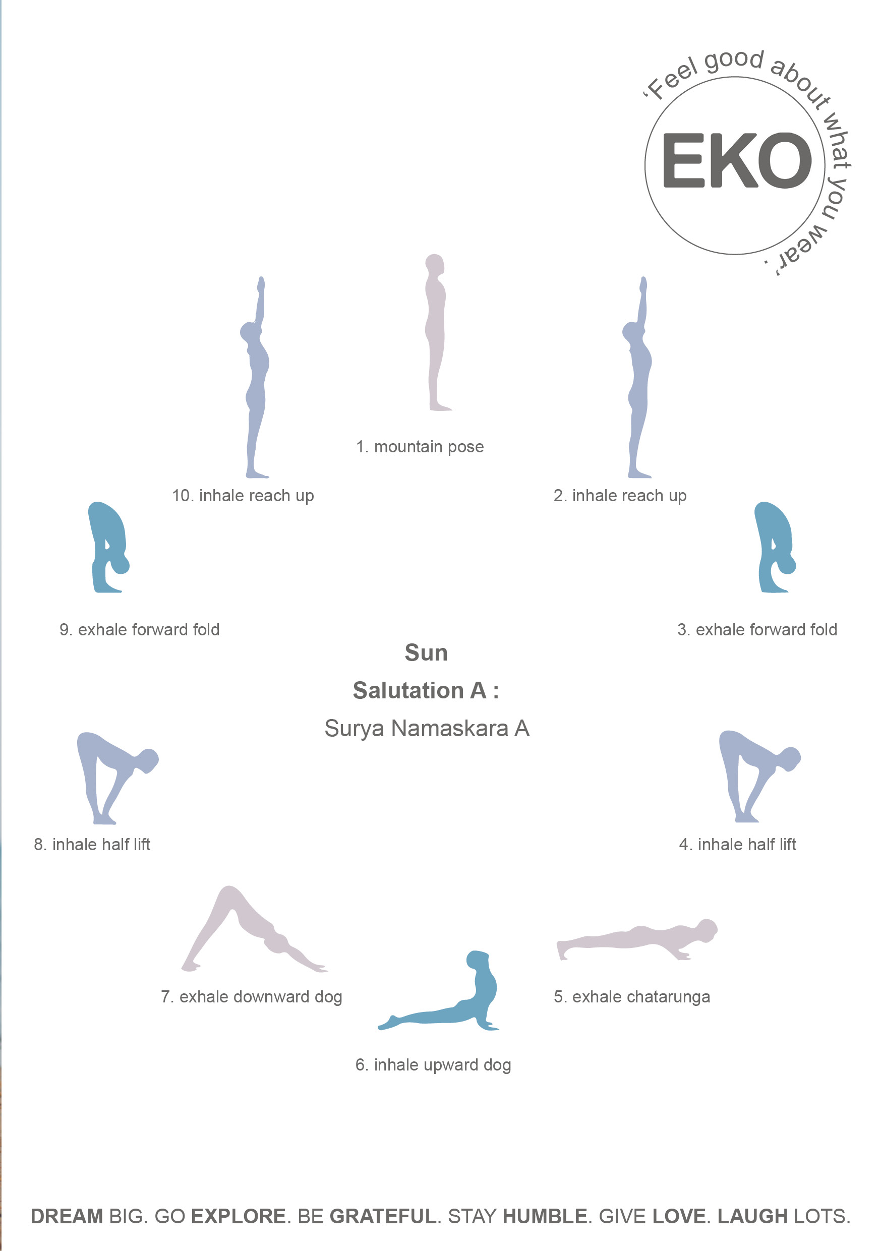 Yoga sun salutations and poses
