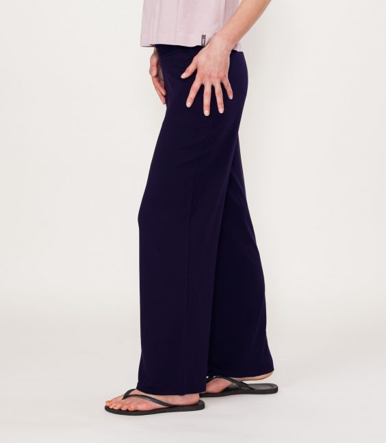 organic wide leg trousers